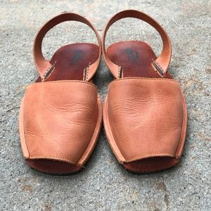EUC Leather Riudavets Rust Sandals